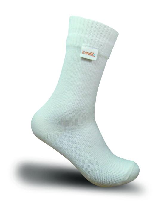 Beyaz Eshel Mesh Çorabı